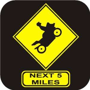 Stunt Road Sign funny Vinyl Die Cut Decal Sticker Automotive