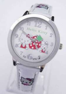pcs Student Hello Kitty wrist watch child 5 Color Lot of Mix