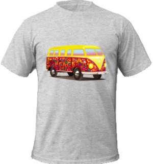 New Flowery VW Volkswagen Transporter Print T Shirt TEE