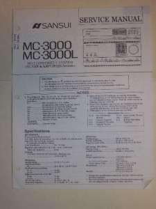 Sansui Service Manual~MC 3000/3000L uner/Amplifier |