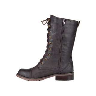 Womens Laced Ankle High Boot Lug 11 Brown Tan Gray 6 8.5