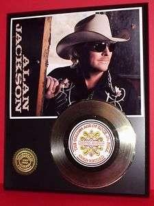 ALAN JACKSON 24kt GOLD 45 RECORD LTD EDITION DISPLAY