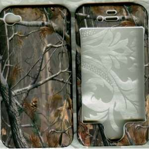 Real tree camo rubberized apple iPhone 4 4G faceplate snap