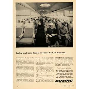 1956 Ad Boeing 707 Aviation Airplane Flight Jet Plane   Original Print