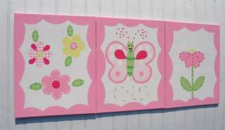 PC Set BRIGHT BUTTERFLY SPRING DAISY KIDS WALL ART