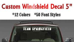Custom Windshield Decal Banner Vinyl Sticker 5 Almonte