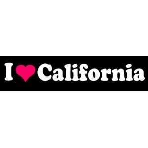 8 I Love Heart California State Die Cut Vinyl Decal