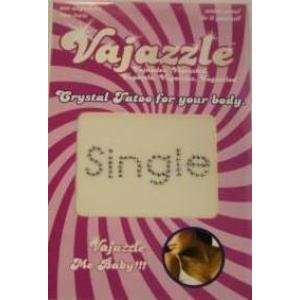 Bundle Vajazzle Single and 2 pack of Pink Silicone Lubricant 3.3 oz