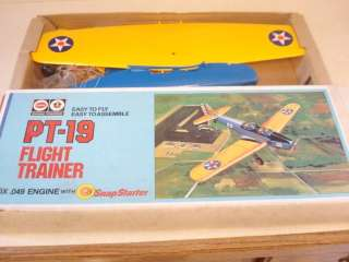 OLD COX PT 19 .049 POWERED CONTROL LINE MODEL AIRPLANE **