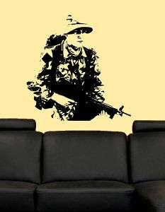US Military Army Man Soldier Boy Room Decor Vinyl Decal