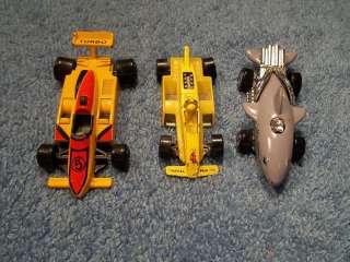 LOT OF 3 DIECAST RACE CARS HOT WHEELS + HIGH SPEED #205 , SHARK