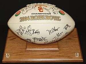 2004 USC Trojans Rosebowl Autographed Football Bush/Carroll/Leinart