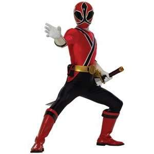 Red Ranger Samurai Child Costume for a Boy, Size S (6