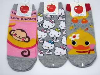 NWT 6 Pairs Kids Low Cut Ankle Socks Cute Cartoon Sock