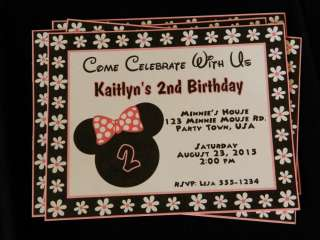 UNIQUE PERSONALIZED MINNIE MOUSE BIRTHDAY BABY SHOWER PARTY FAVOR