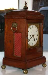 James McCabe Double Fusee Georgian Bracket Clock 1806