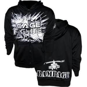 Cage Fighter Quentin Rampage Jackson MMA Zip Hoodie