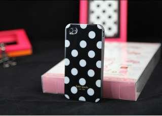 Kate Spade White Dot silica gel Case iphone apple iphone 4 4S