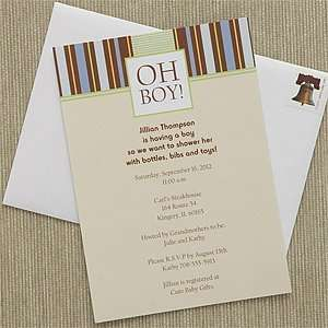 Personalized Baby Shower Invitations   Oh Boy: Health & Personal Care