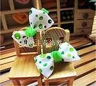 10 pairs cute dot girls baby hair bow clip
