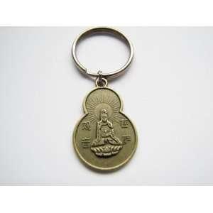 Keychain Quan Yin Goddess Buddha Blessings Coin