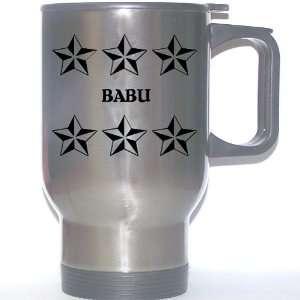 Personal Name Gift   BABU Stainless Steel Mug (black