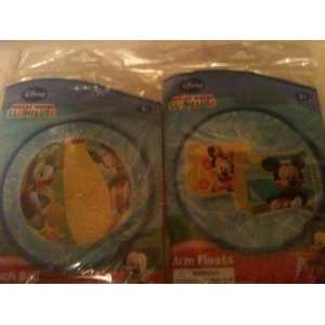 Disney Mickeys Clubhouse Pool Set of 2 Minnie & Mickey Arm Floats