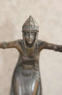 French Art Deco Dancer Bronze Statue by Colinet