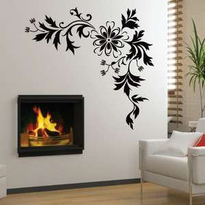 Flower Mural Art Wall Stickers Vinyl Decal Home Room Decor DIY NEW