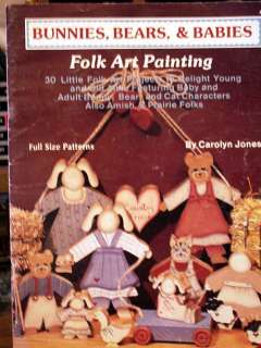 Painting Folk Tole Pattern Instruction Books Art Country Bunnies