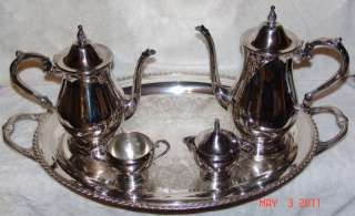 Tea Set By WM.A.ROGERS By Oneida Silverment