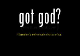 got god? Vinyl wall art truck car decal sticker word