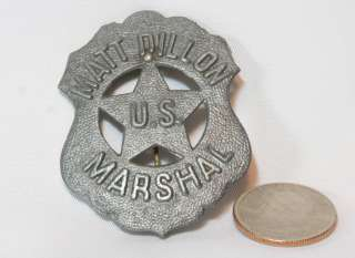 Marshal Badge 1959 Gunsmoke TV CBS Sheriff Pin Cereal Premium