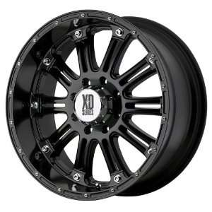 16x8 KMC XD Hoss (Gloss Black) Wheels/Rims 5x114.3 (XD79568012300)