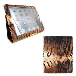 Leather Case for iPad 2 2nd Generation Animal Series   [TIGER Print