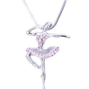 Dancer Charm Pendant Necklace Elegant Trendy Fashion Jewelry: Jewelry