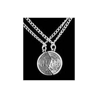 Best Friend Charm   w/ Two 18 Necklaces.) Best friends jewelry (BFF