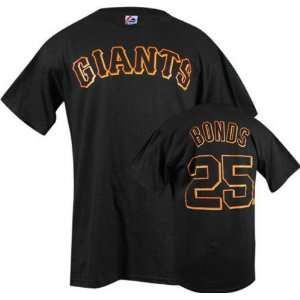 Barry Bonds Black Majestic Player Name and Number San Francisco Giants