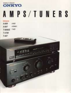 Onkyo Integra Amps & Tuners Brochure