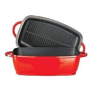 Kinetic 4.5L rec cast iron roaster / grill pan lid   Free