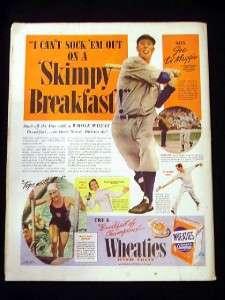 Aug 6 1938 DIMAGGIO WHEATIES AD Saturday Evening Post
