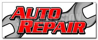 12 AUTO REPAIR DECAL sticker car shop mechanic signs fix equipment