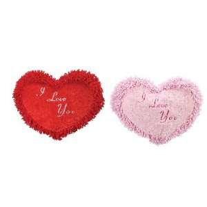 New   16 2 Assorted Color Nubby Hearts, Pink and Red Case