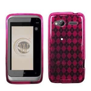 VMG HTC Radar TPU Design Skin Case Cover   Pink Diamond Pattern Design