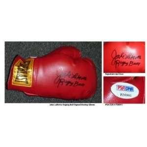 Jake LaMotta Hand Signed Full Size Everlast Boxing Glove Raging Bull