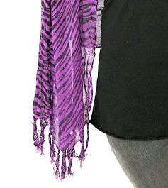 HOT TOPIC~ PURPLE & BLACK ZEBRA PRINT SCARF