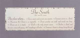 Nu Shabby DECOR Wooden the SOUTH 18 Wall Plaque SIGN