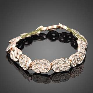 18K rose gold GP swarovski crystal fashion bracelet B9