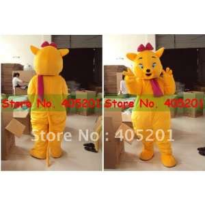 good vision cartoon costumes yellow cat mascot costumes
