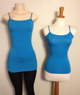 New Womens Spaghetti Strap Tank Top  15 Colors   Long and Short   Size